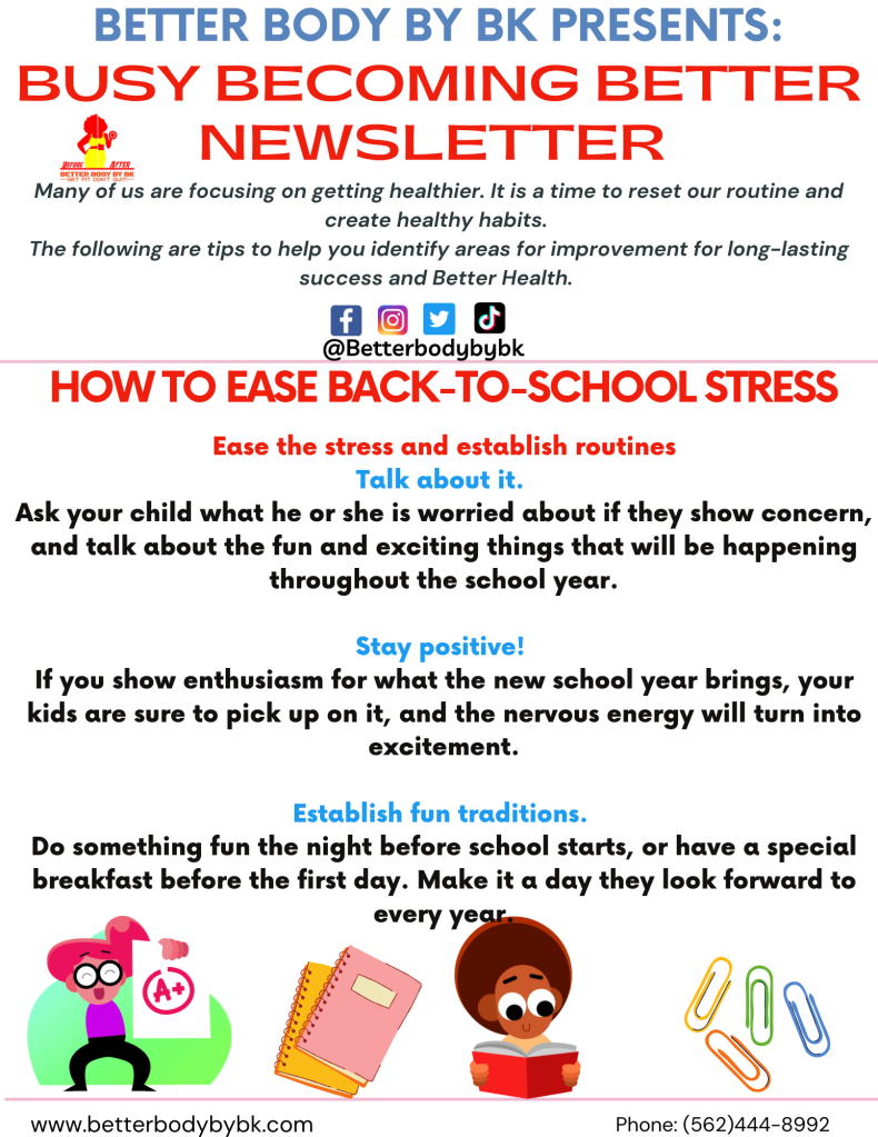 It's back to school time. Ease back with less stress this year.